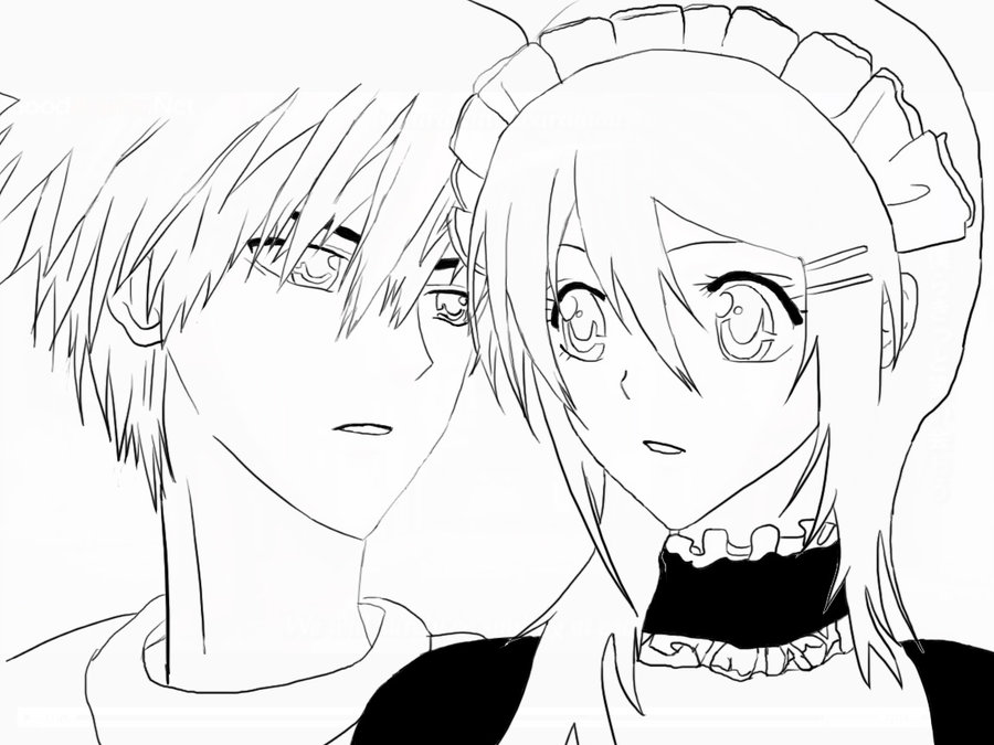 Maid Sama Colouring Pictures 6