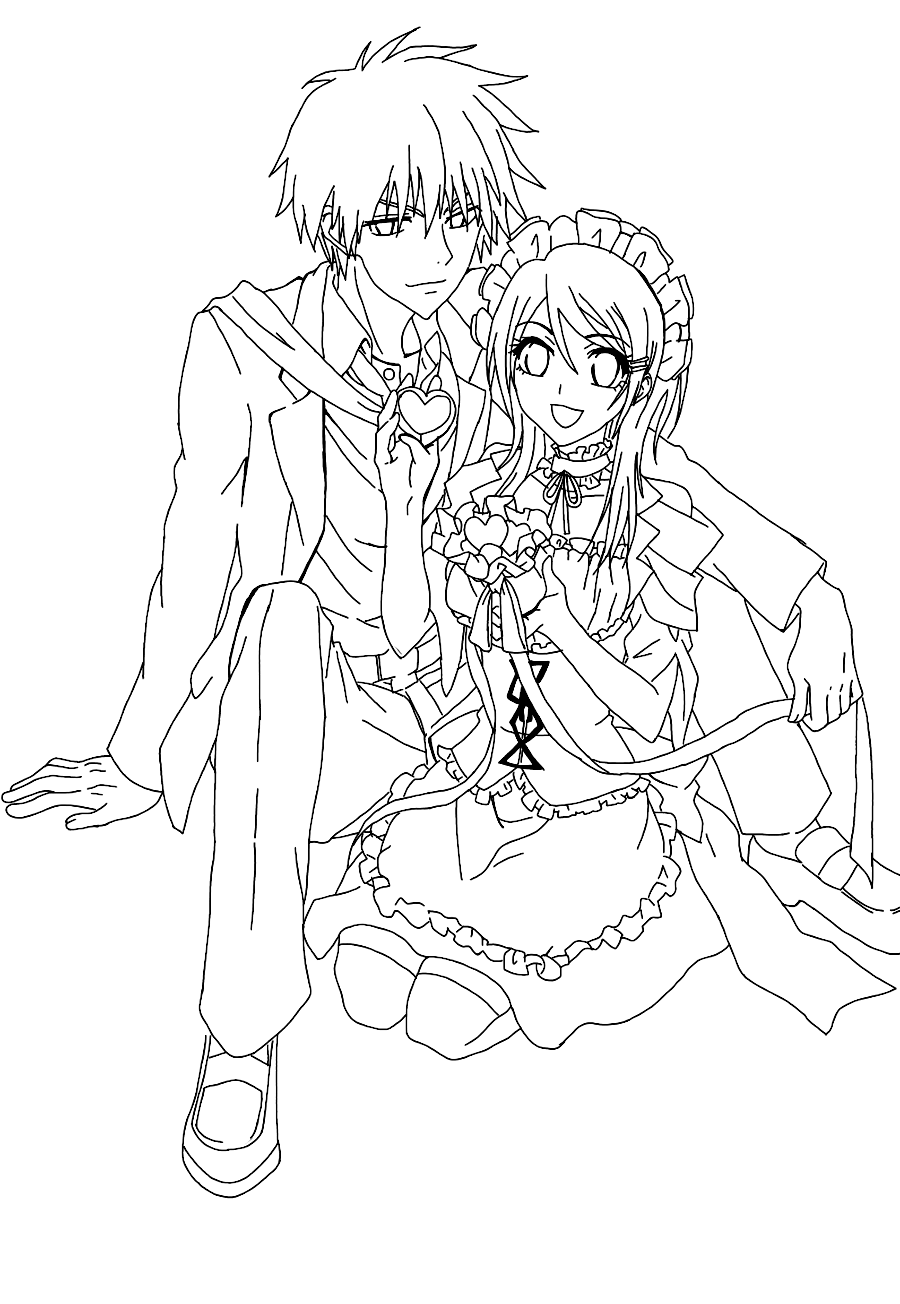 Maid Sama Colouring Pictures 7