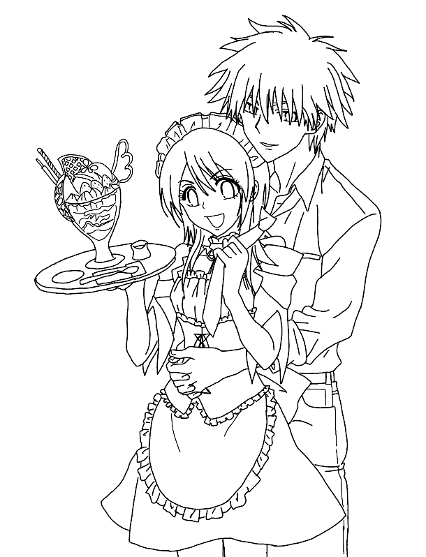 Maid Sama Colouring Pictures 8