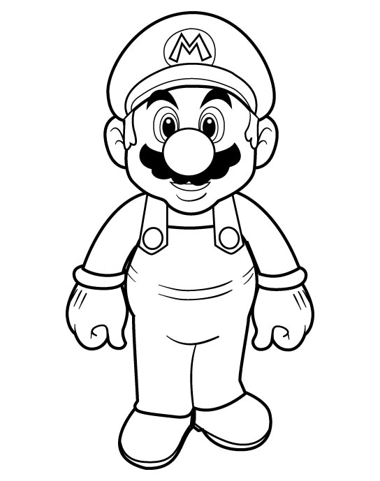Mario Colouring Pictures 1