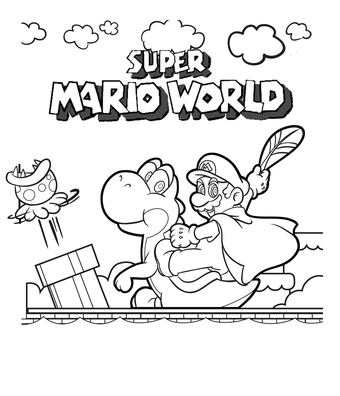 Mario Colouring Pictures 11