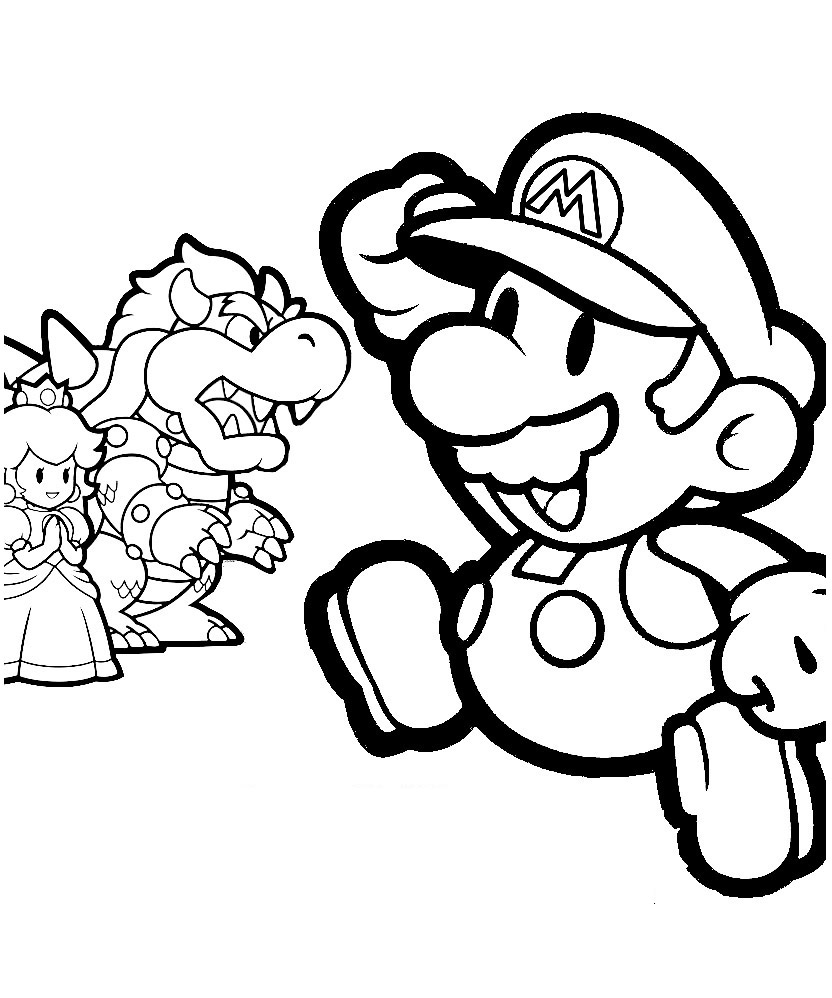 Mario Colouring Pictures 12