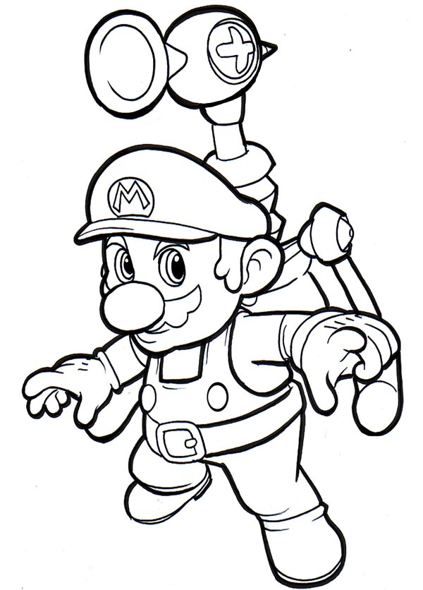 Mario Colouring Pictures 6