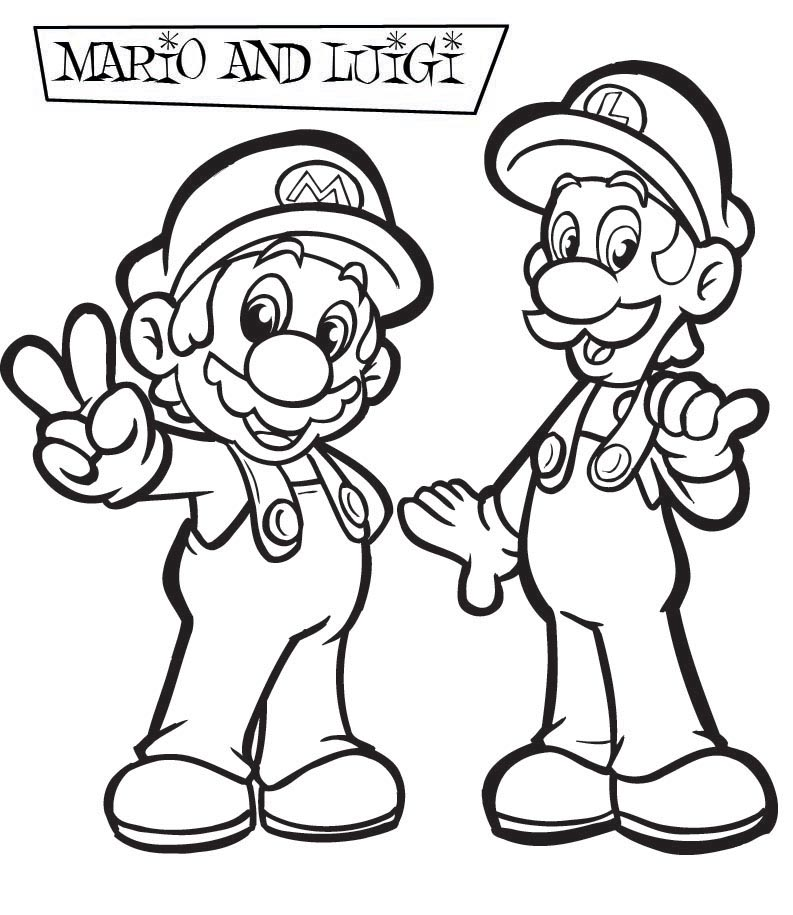 Mario Colouring Pictures 7