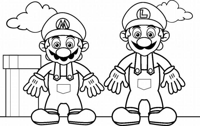 Mario Colouring Pictures 8