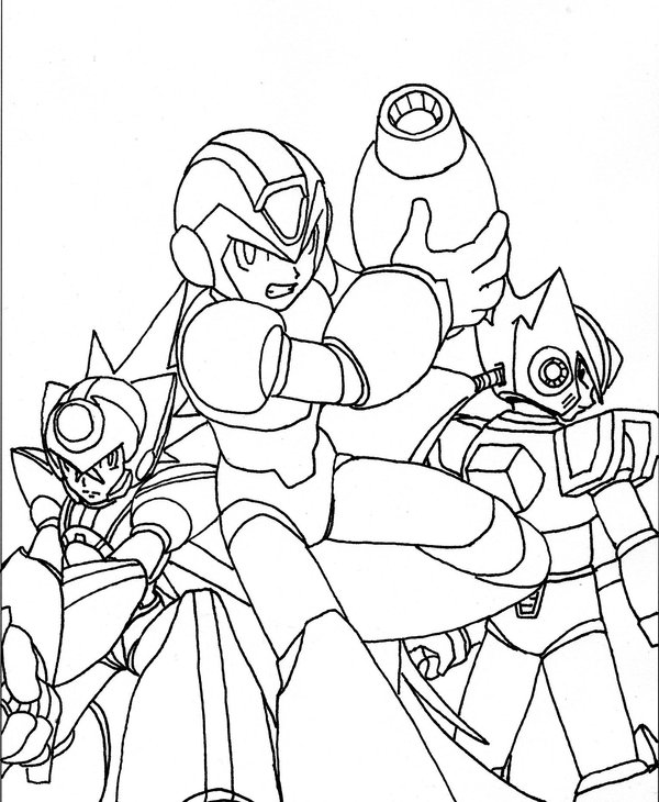 Megaman ZX Colouring Pictures 3