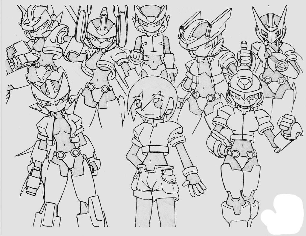 Megaman ZX Colouring Pictures 4