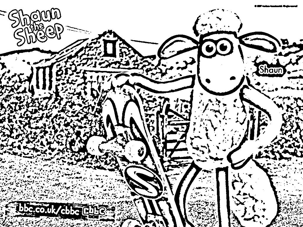 Shaun The Sheep Colouring Pictures 10