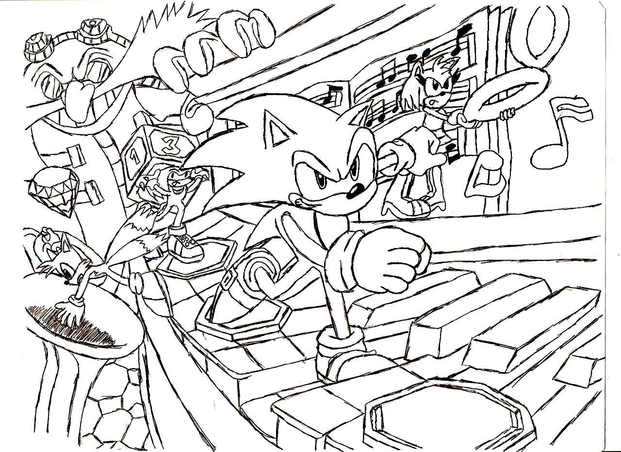 Sonic Colouring Pictures 10