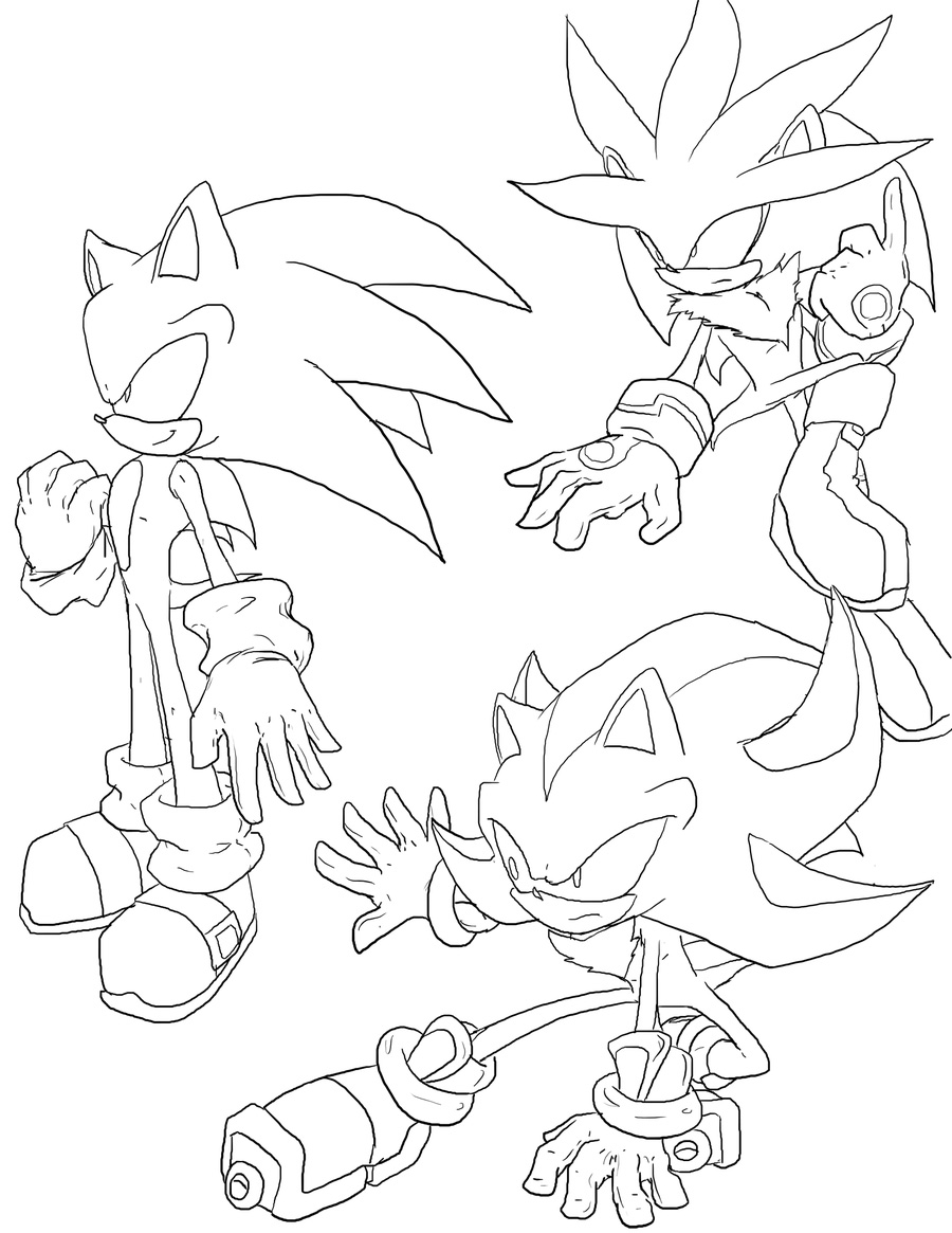 Sonic Colouring Pictures 11
