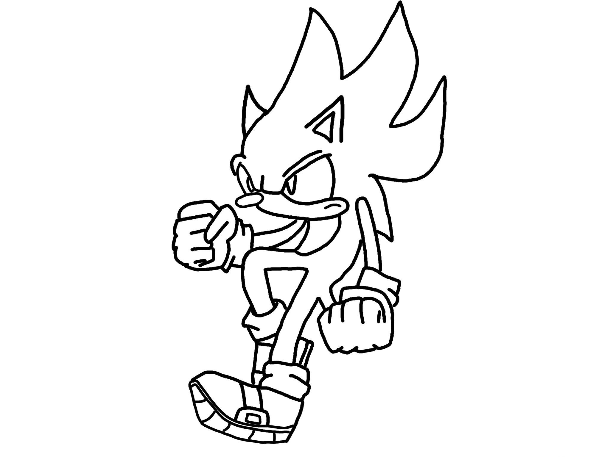 Sonic Colouring Pictures 8