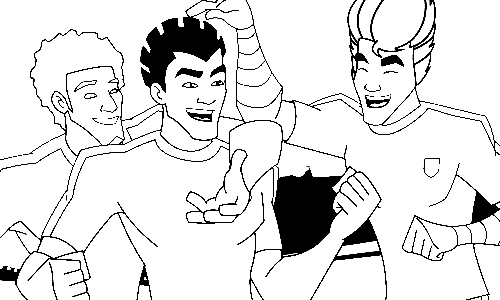 Supa Strikas Colouring Pictures 8