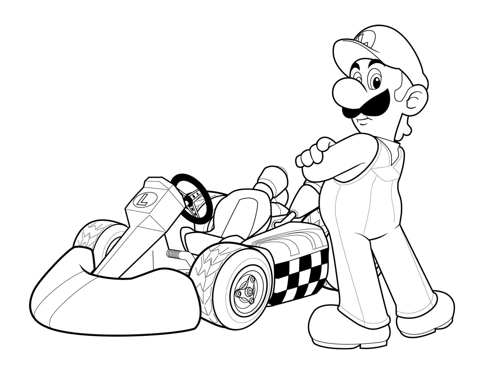 Super Mario Colouring Pictures 2