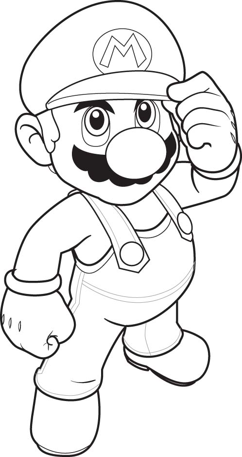 Super Mario Colouring Pictures 3