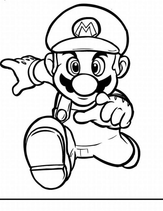 Super Mario Colouring Pictures 5