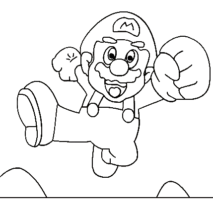 Super Mario Colouring Pictures 7