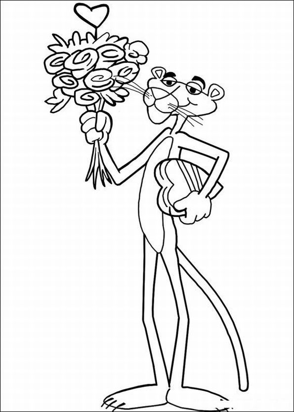 The Pink Panther Show Colouring Pictures 9