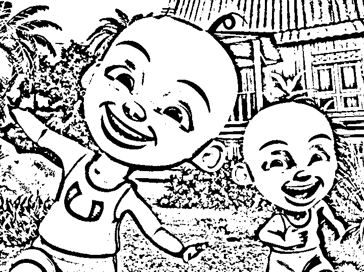 Upin Ipin Colouring Pictures