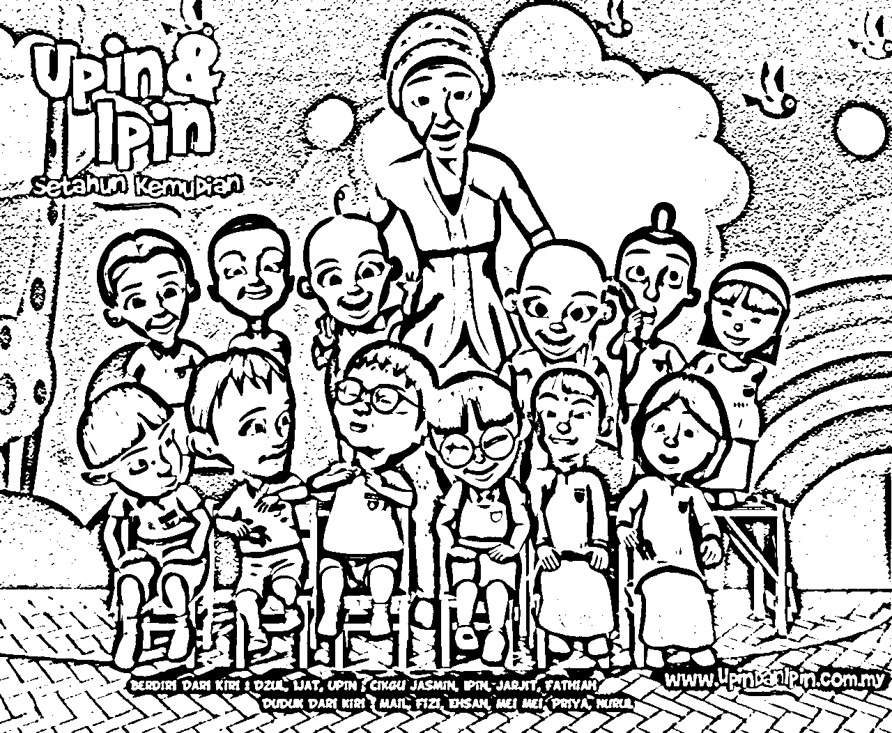 Upin Ipin Colouring Pictures 12