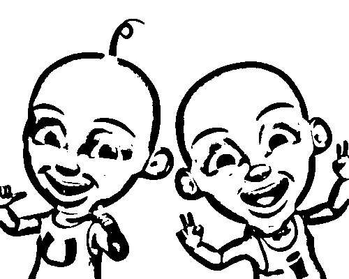 Upin Ipin Colouring Pictures 3