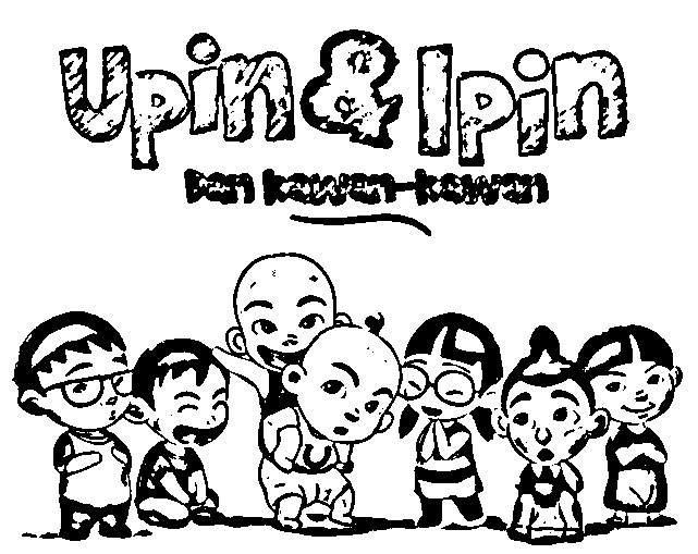Upin Ipin Colouring Pictures 8