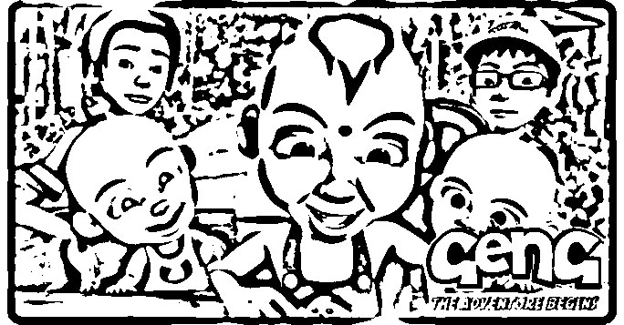 Upin Ipin Colouring Pictures 9