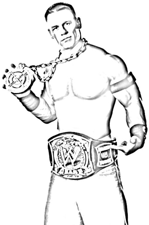 WWE Colouring Pictures 12