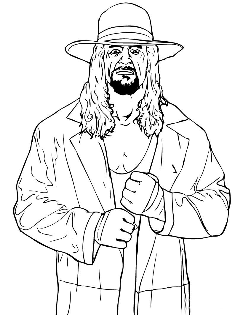 WWE Colouring Pictures 2