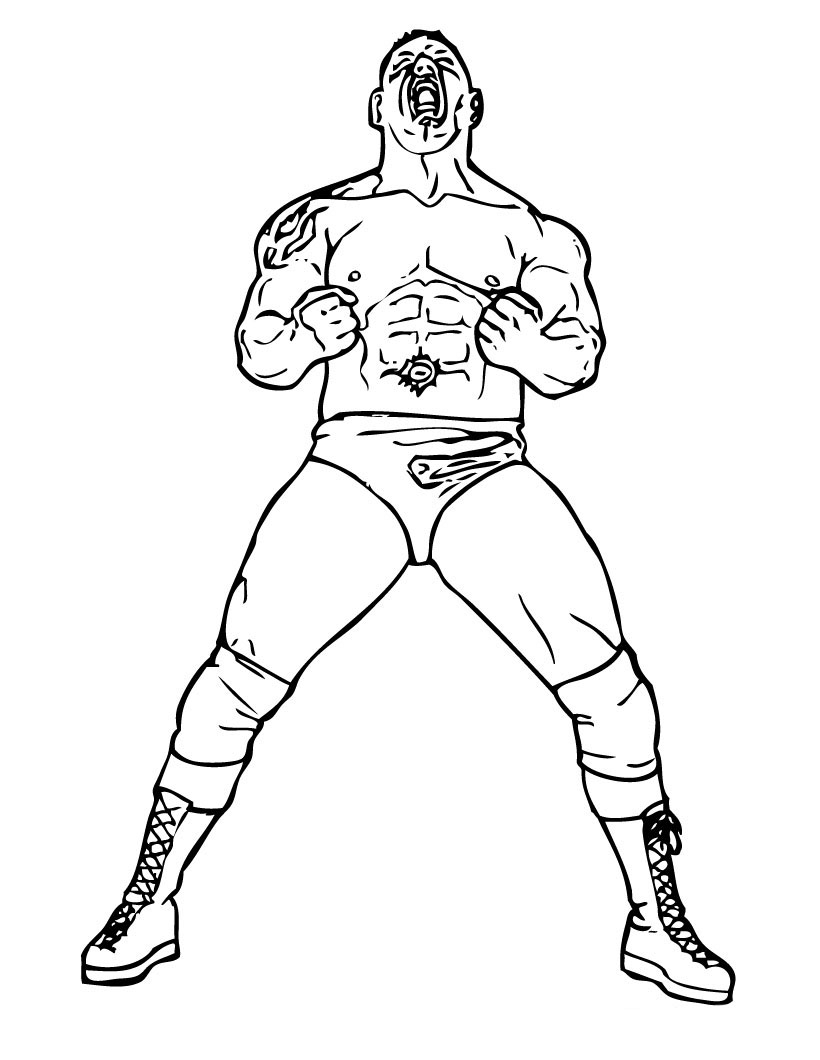 WWE Colouring Pictures 3