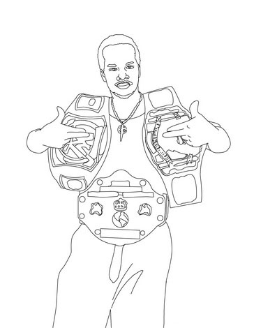 WWE Colouring Pictures 7