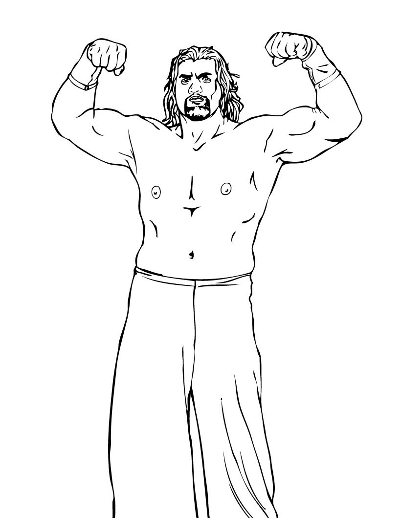 WWE Colouring Pictures 9